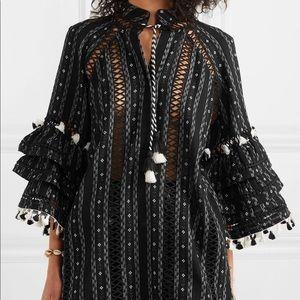 Dodo Bar Or Tasseled Crochet cotton jacquard top